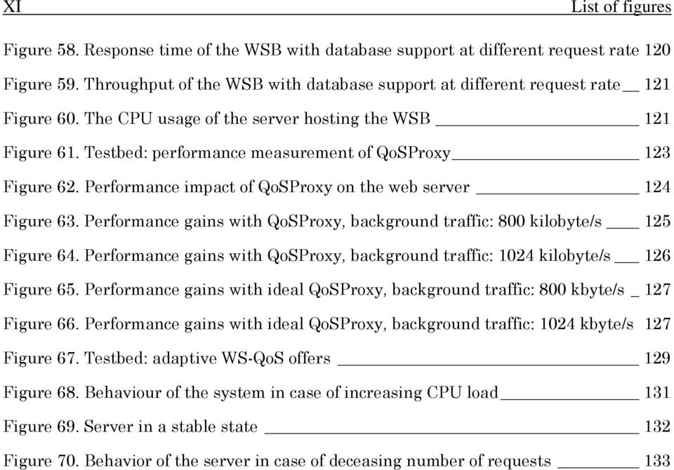 Testbed: performance measurement of QoSProxy 123 Figure 62. Performance impact of QoSProxy on the web server 124 Figure 63.