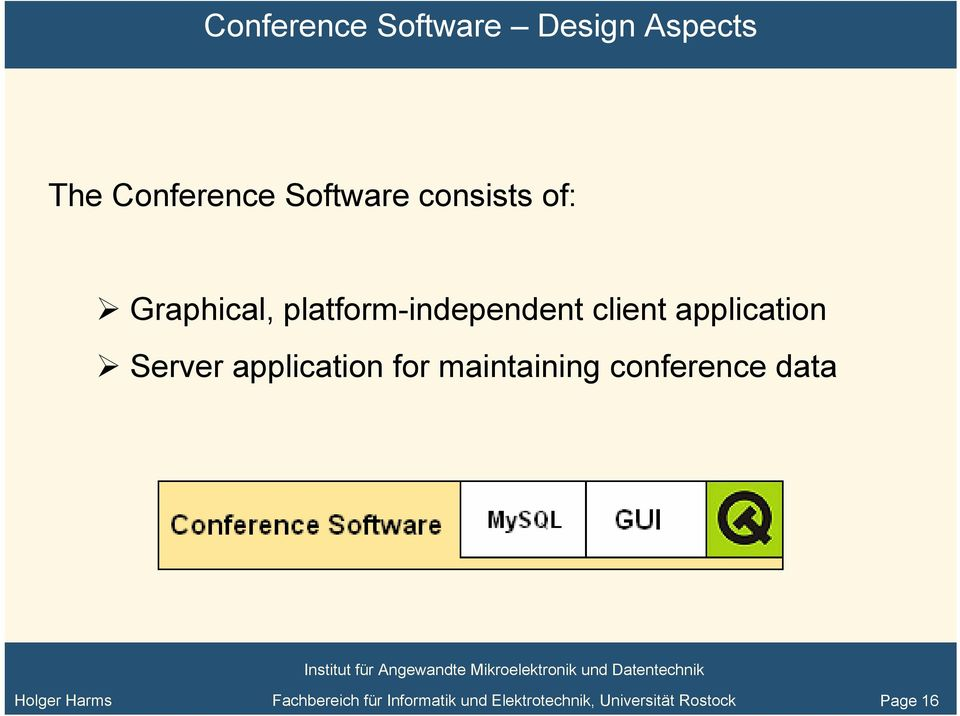 application Server application for maintaining conference