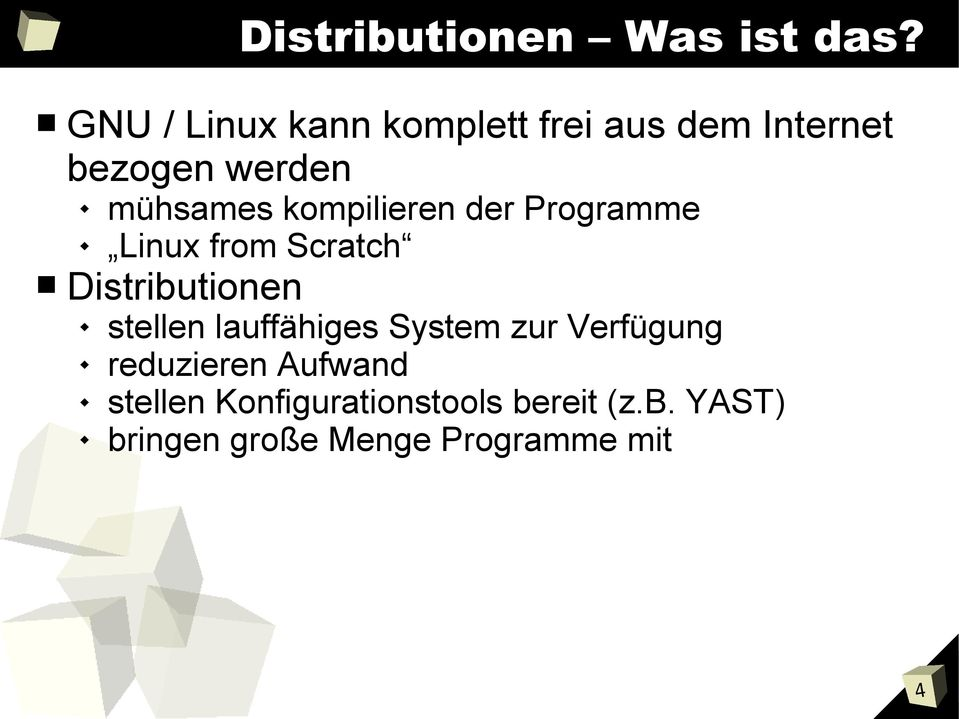 kompilieren der Programme Linux from Scratch Distributionen stellen