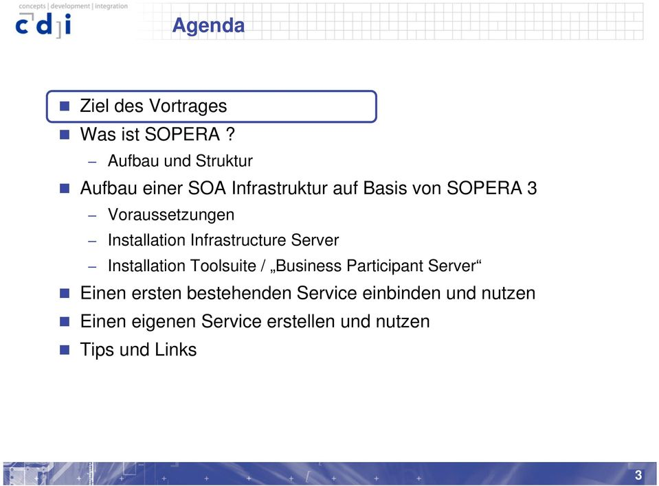 Voraussetzungen Installation Infrastructure Server Installation Toolsuite /