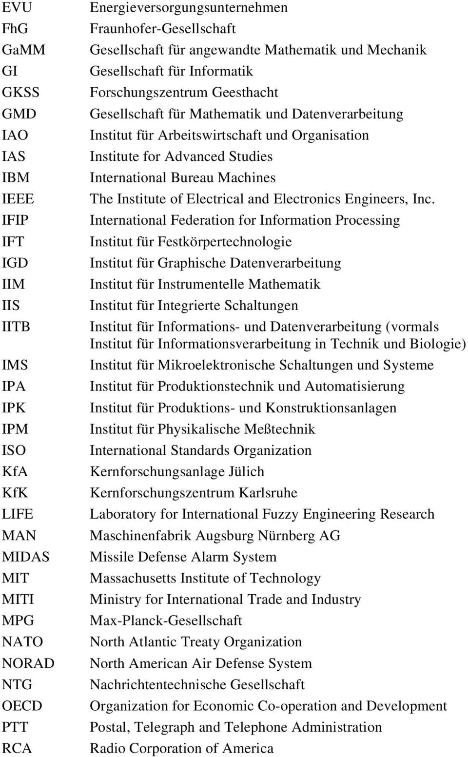 Arbeitswirtschaft und Organisation Institute for Advanced Studies International Bureau Machines The Institute of Electrical and Electronics Engineers, Inc.