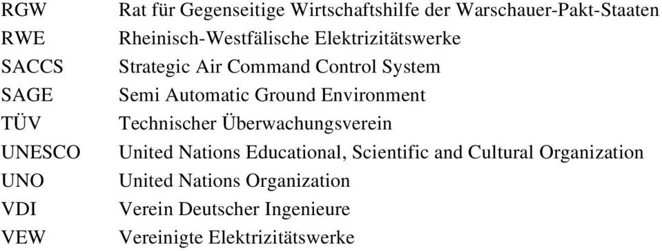 System Semi Automatic Ground Environment Technischer Überwachungsverein United Nations Educational,