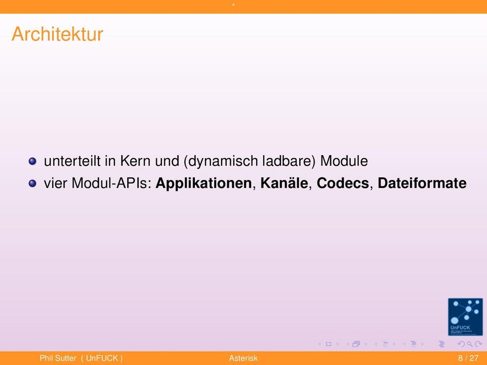 Modul-APIs: Applikationen, Kanäle,