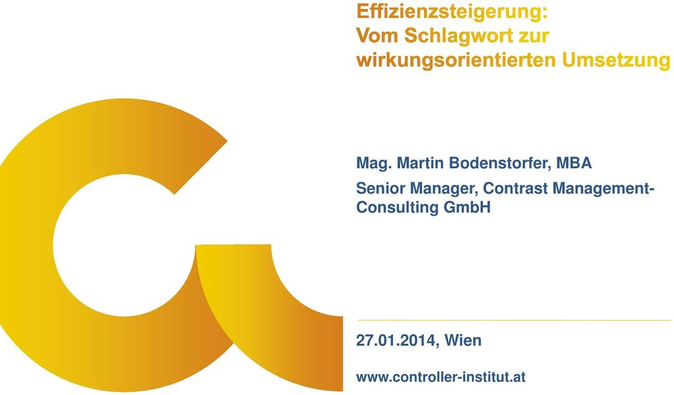 Management- Consulting GmbH 27.