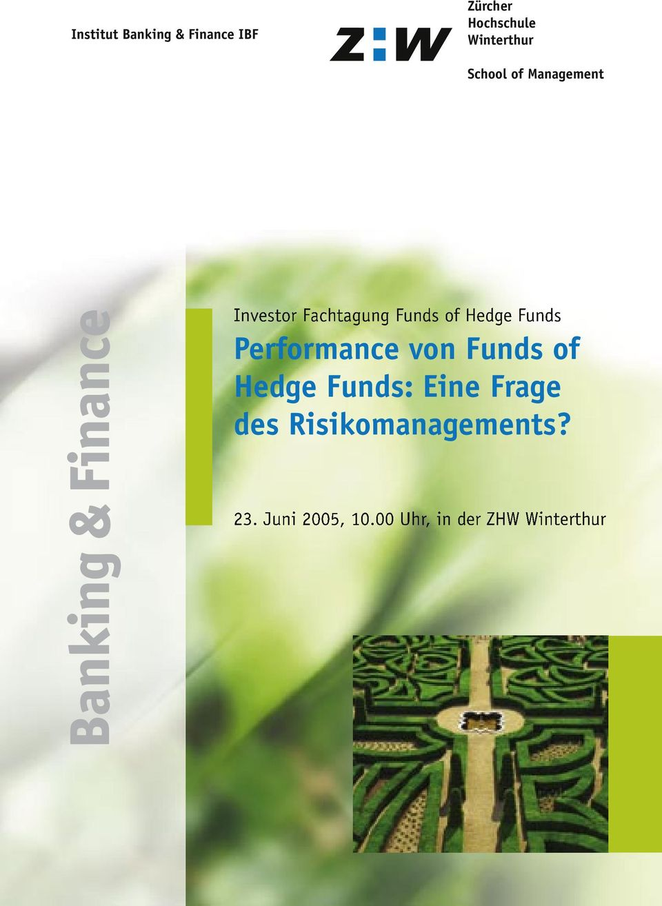 of Hedge Funds Performance von Funds of Hedge Funds: Eine Frage