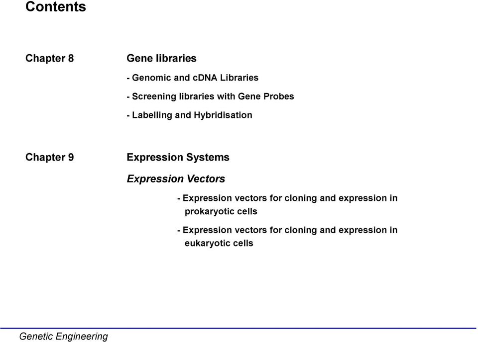 Systems Expression Vectors - Expression vectors for cloning and expression in