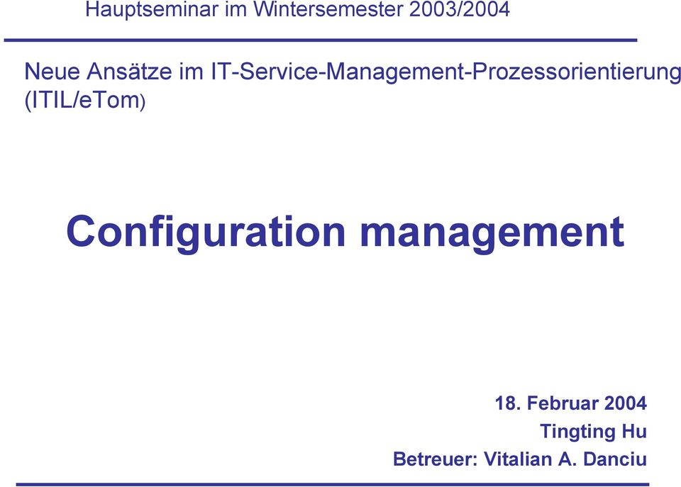 IT-Service-Management-Prozessorientierung