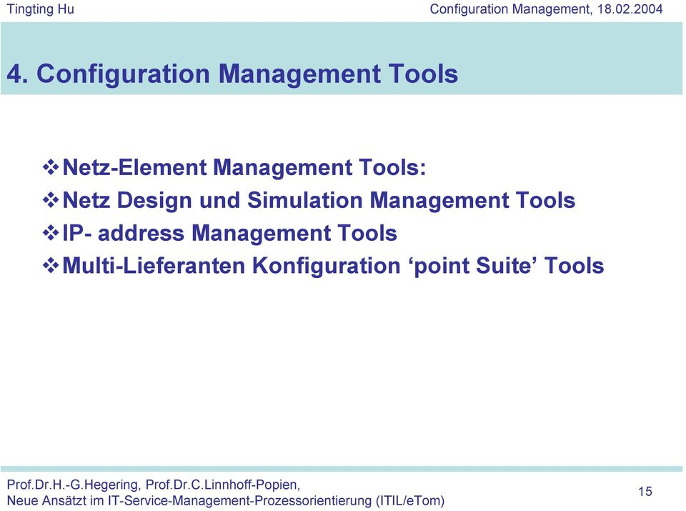 Management Tools IP- address Management Tools