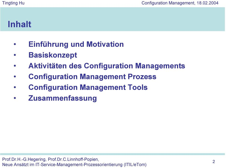 Managements Configuration Management