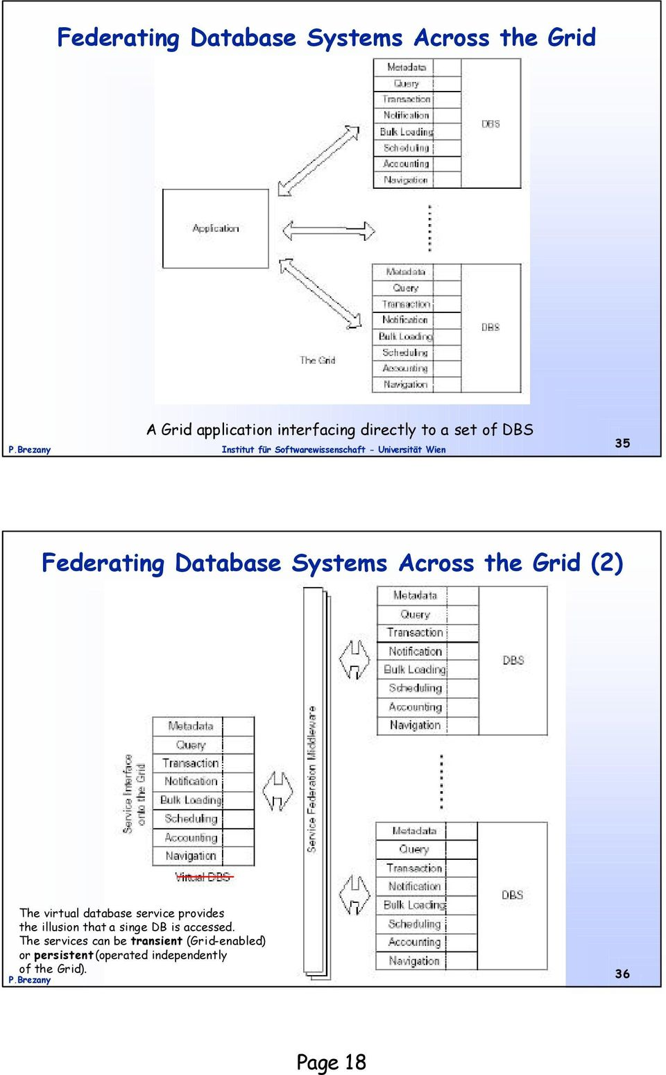 database service provides the illusion that a singe DB is accessed.