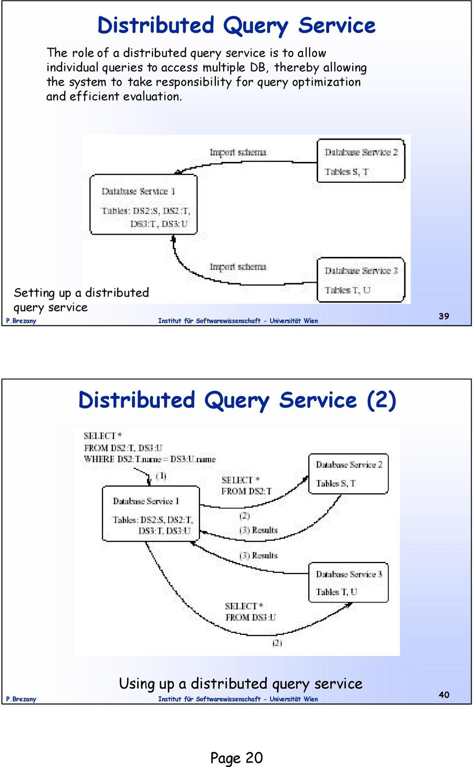 responsibility for query optimization and efficient evaluation.