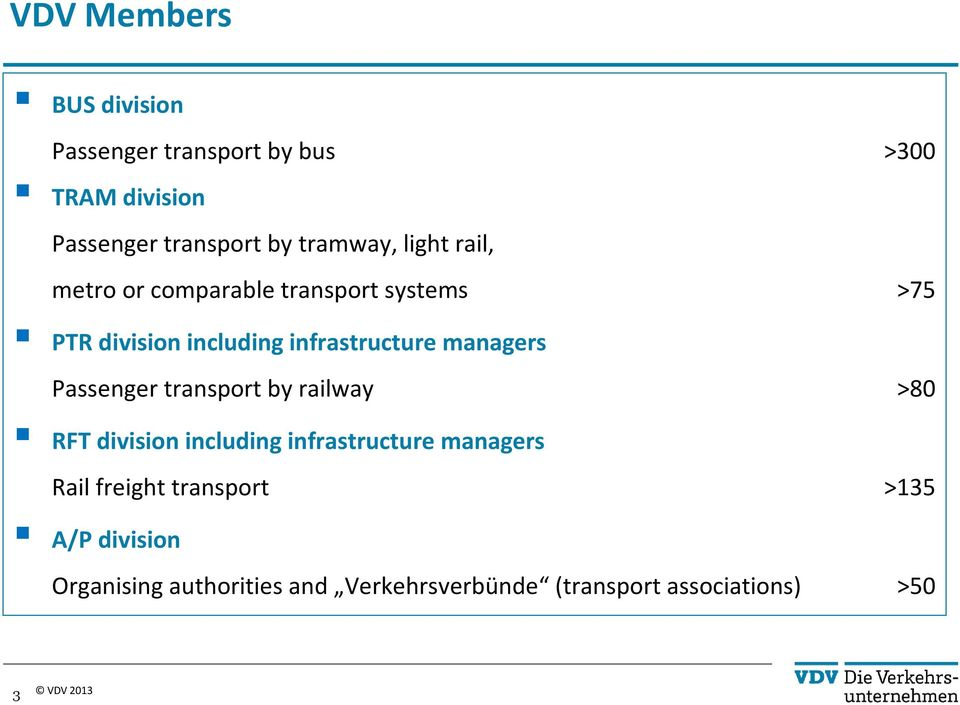 managers Passenger transport by railway >80 RFT division including infrastructure managers Rail