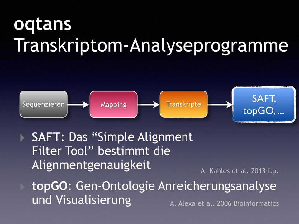 .. SAFT: Das Simple Alignment Filter Tool bestimmt die