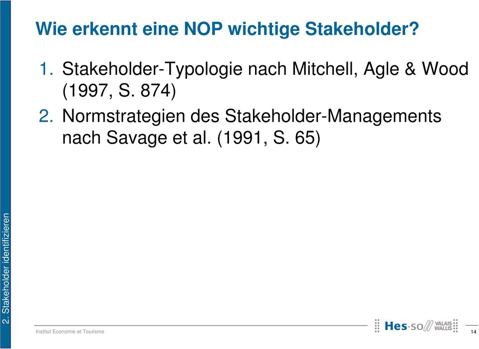 Stakeholder-Typologie nach Mitchell, Agle & Wood (1997,