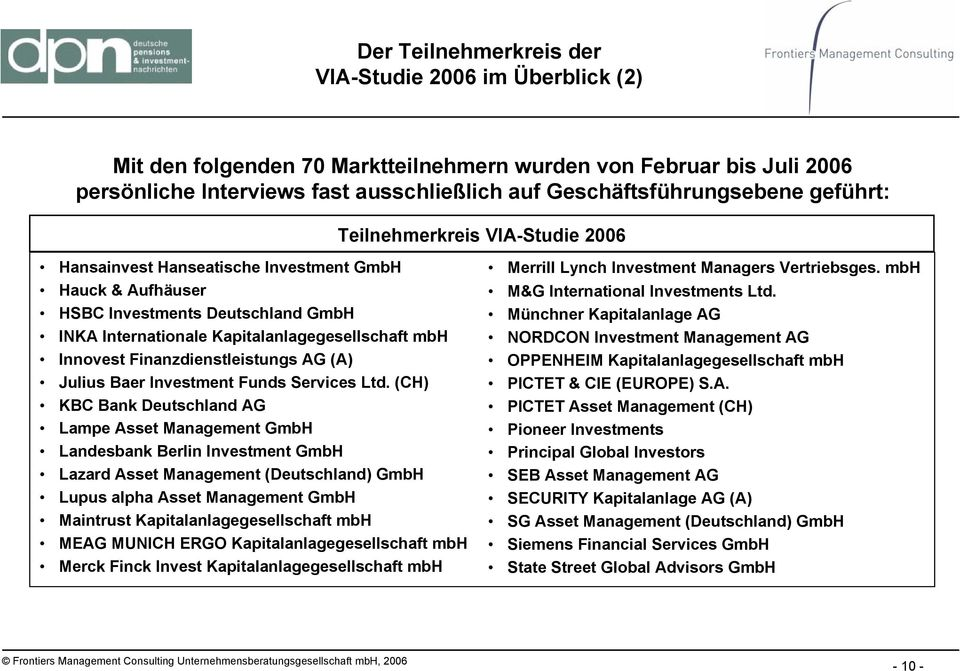 Finanzdienstleistungs AG (A) Julius Baer Investment Funds Services Ltd.