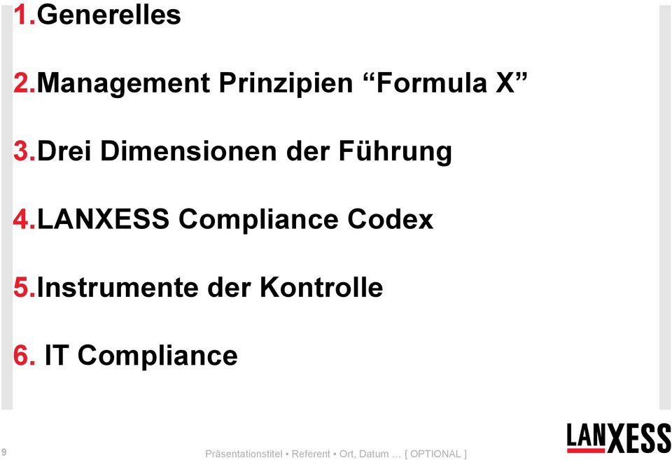 LANXESS Compliance Codex 5.