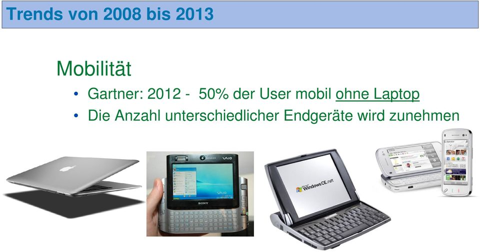 User mobil ohne Laptop Die
