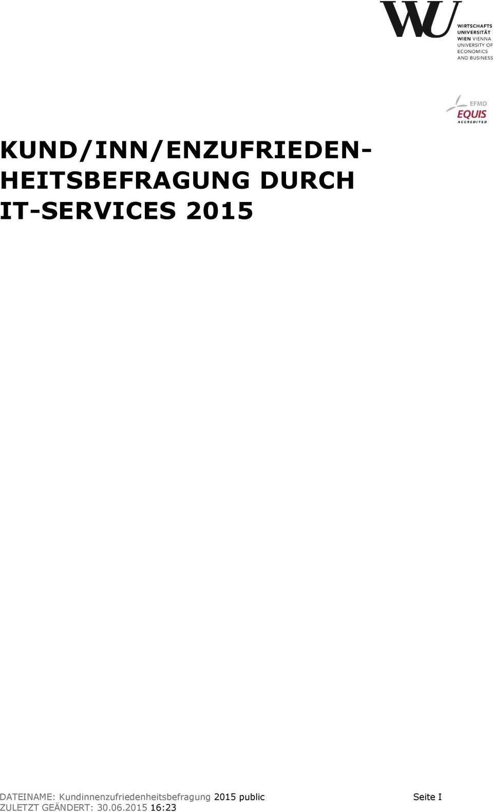 IT-SERVICES 2015 DATEINAME: