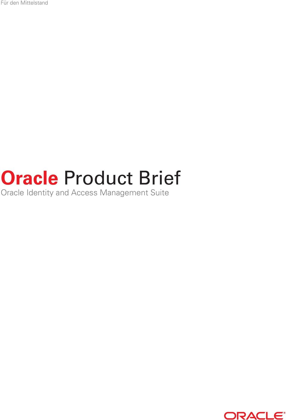 Oracle Identity and