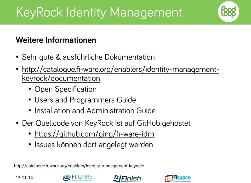 org/enablers/identity-managementkeyrock/documentation Open Specification Users and Programmers Guide