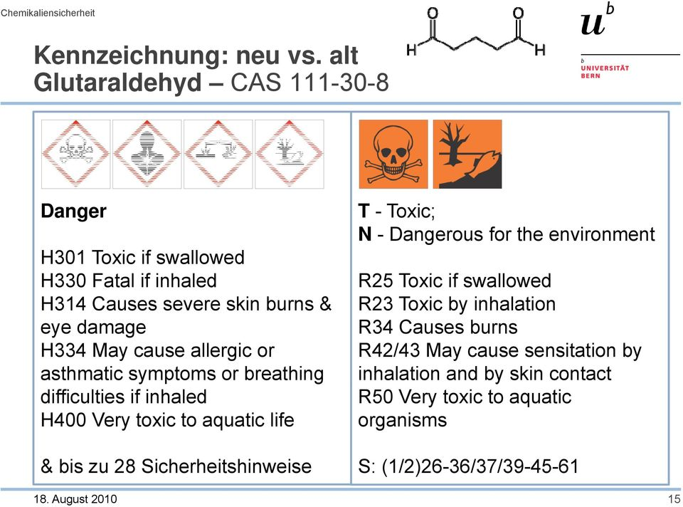 cause allergic or asthmatic symptoms or breathing difficulties if inhaled H400 Very toxic to aquatic life T -Toxic; N - Dangerous for