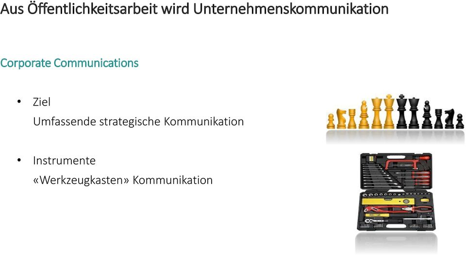 Communications Ziel Umfassende