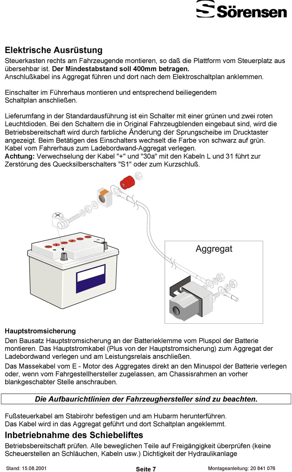 Ladebordwände TECHNOLOGY. Montageanleitung UASX PDF