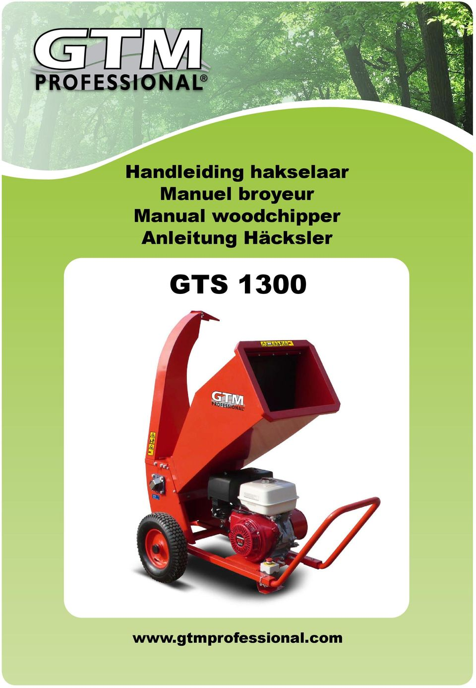 starten gtm professional gts1300 wood chipper
