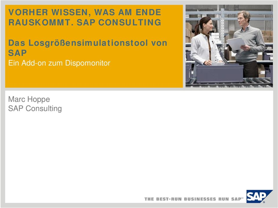 SAP CONSULTING Das