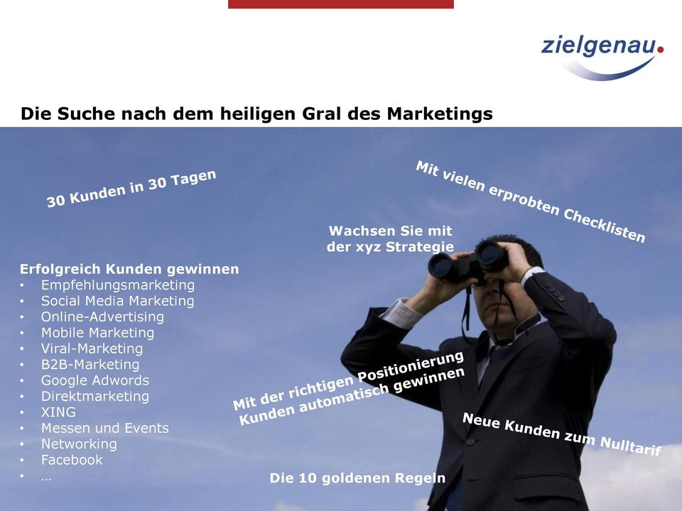 Marketing Viral-Marketing B2B-Marketing Google Adwords Direktmarketing XING