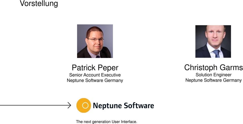 Christoph Garms Solution Engineer Neptune