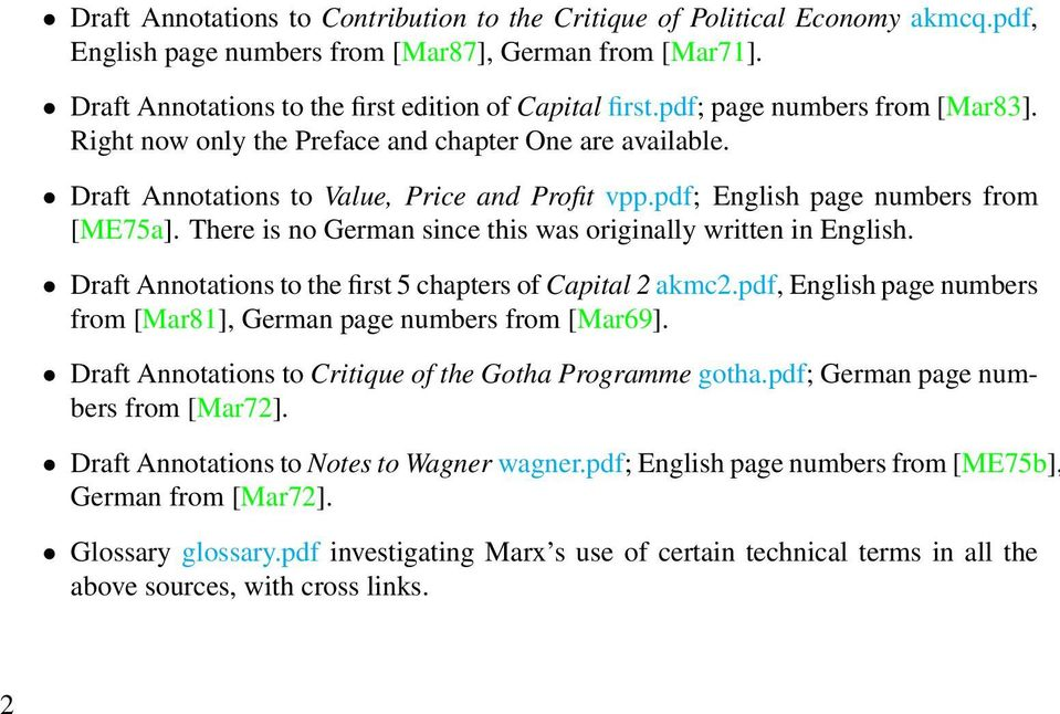 There is no German since this was originally written in English. Draft Annotations to the first 5 chapters of Capital 2 akmc2.pdf, English page numbers from [Mar81], German page numbers from [Mar69].