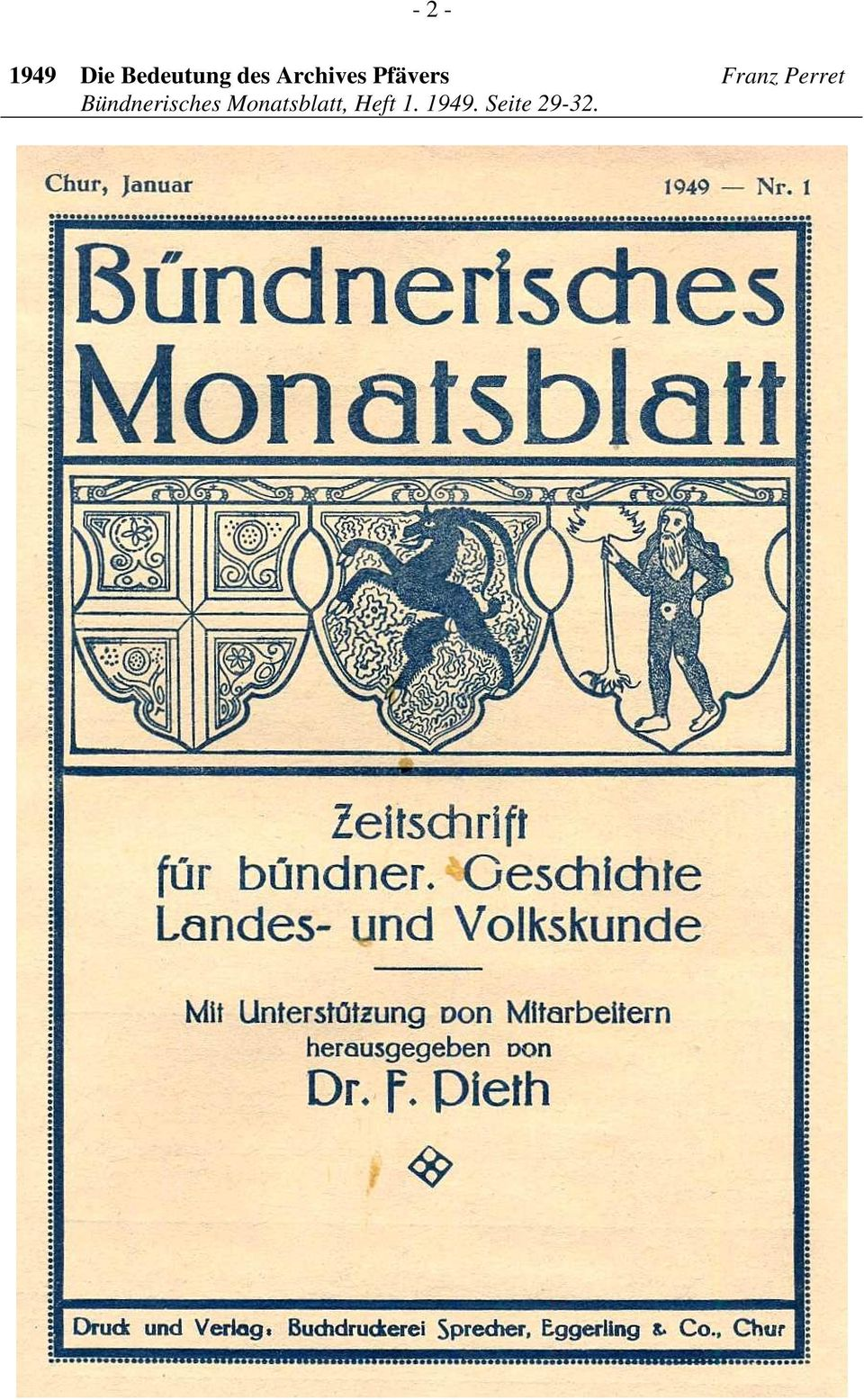 Perret Bündnerisches