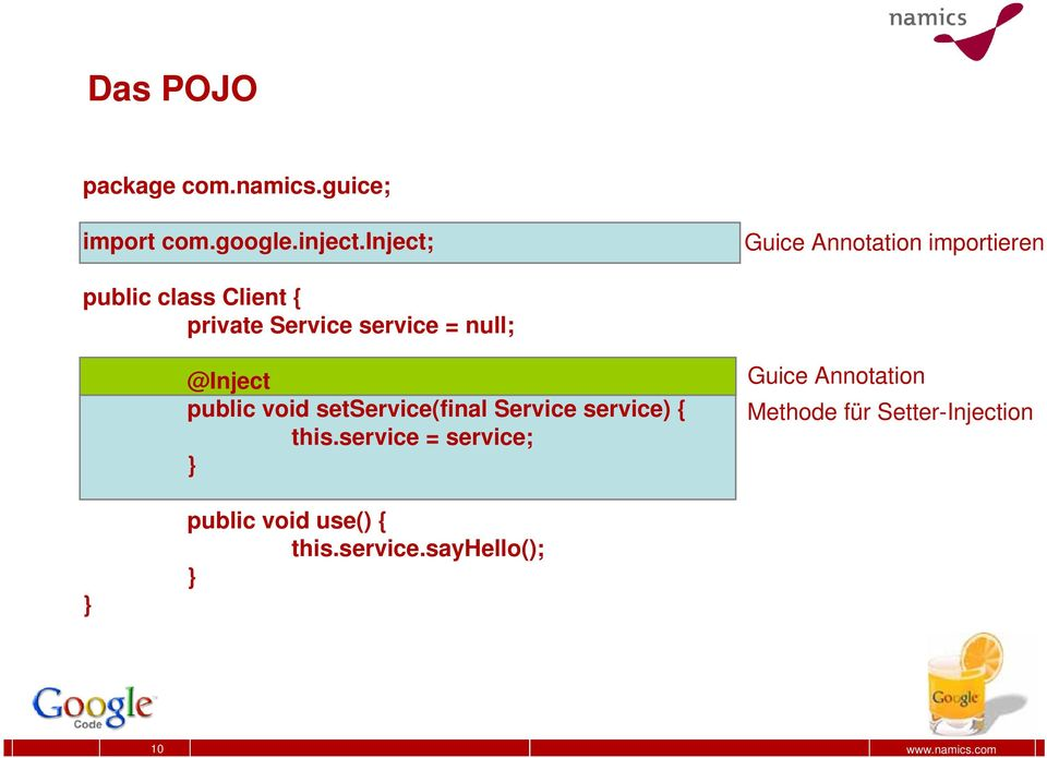 null; @Inject public void setservice(final Service service) { this.