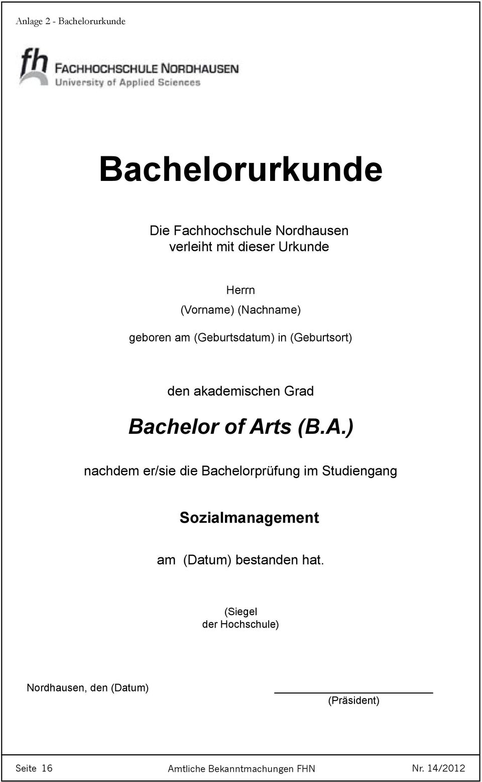Bachelor of Ar