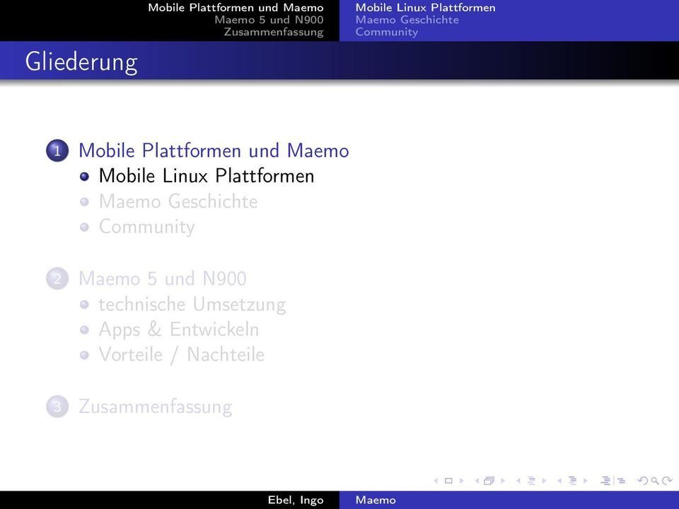 Community 1 Mobile Plattformen und Mobile