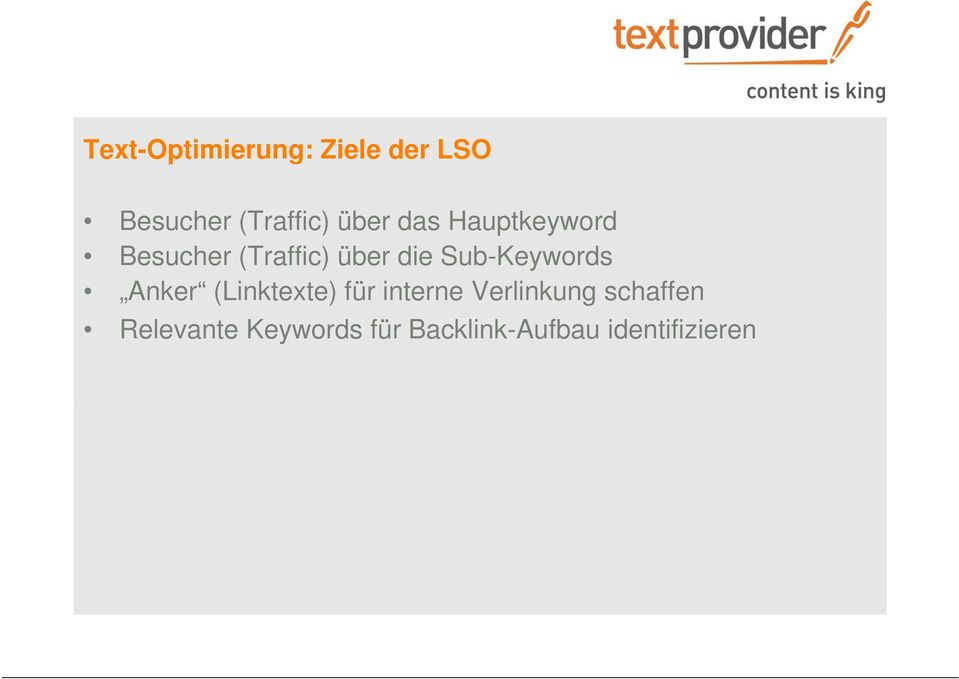 Sub-Keywords Anker (Linktexte) für interne Verlinkung