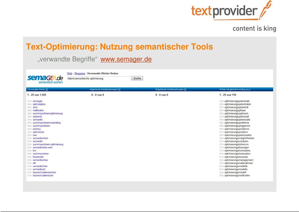 semantischer Tools