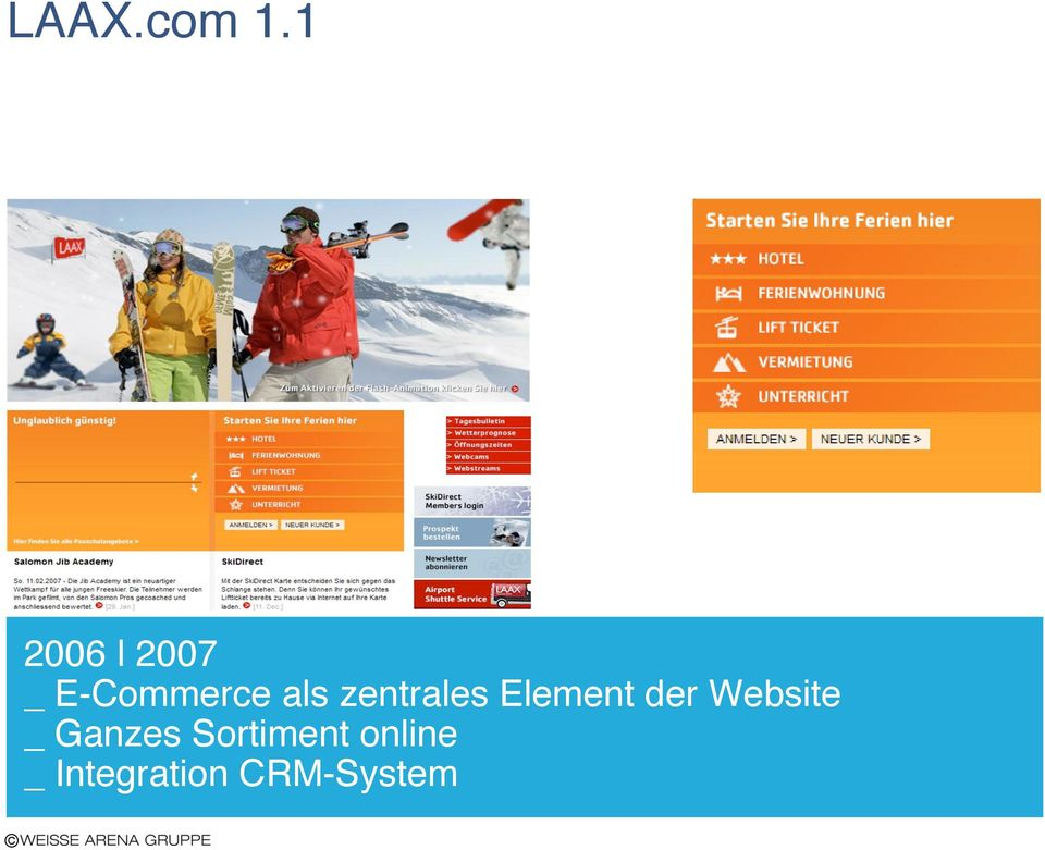 zentrales Element der Website
