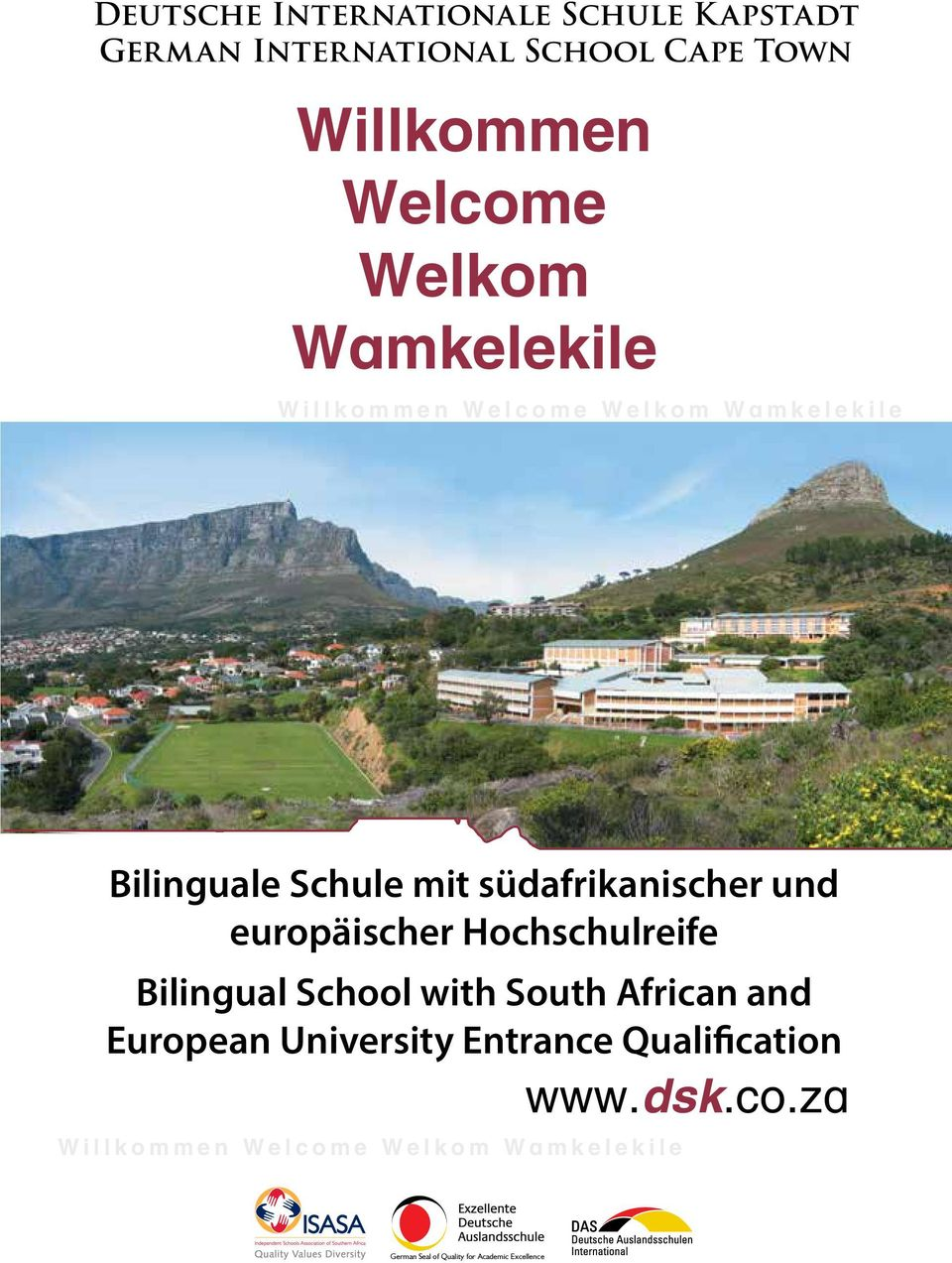europäischer Hochschulreife Bilingual School with South African and European University Entrance