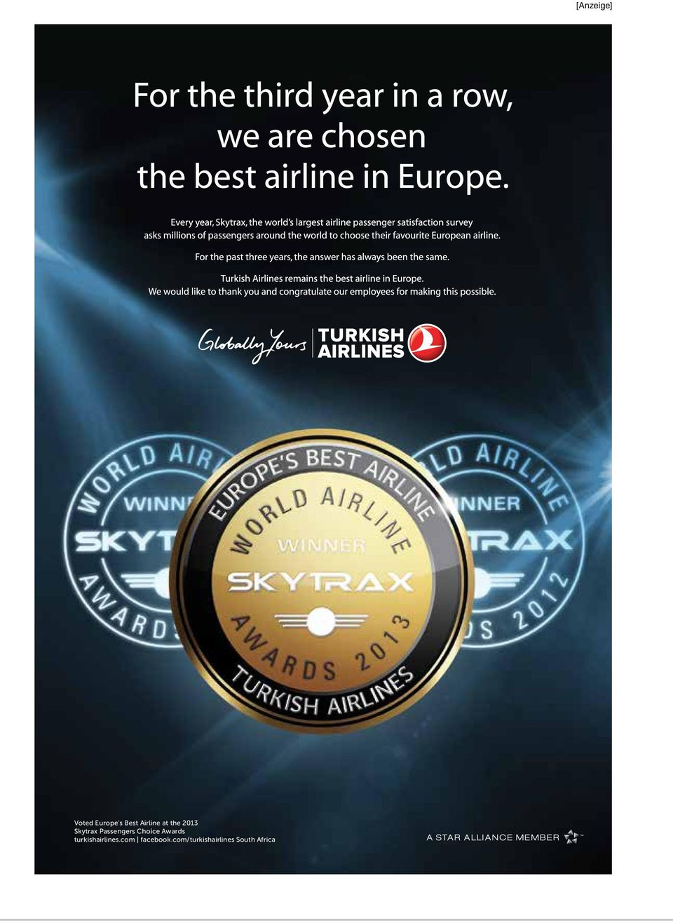 Skytrax Passengers Choice Awards