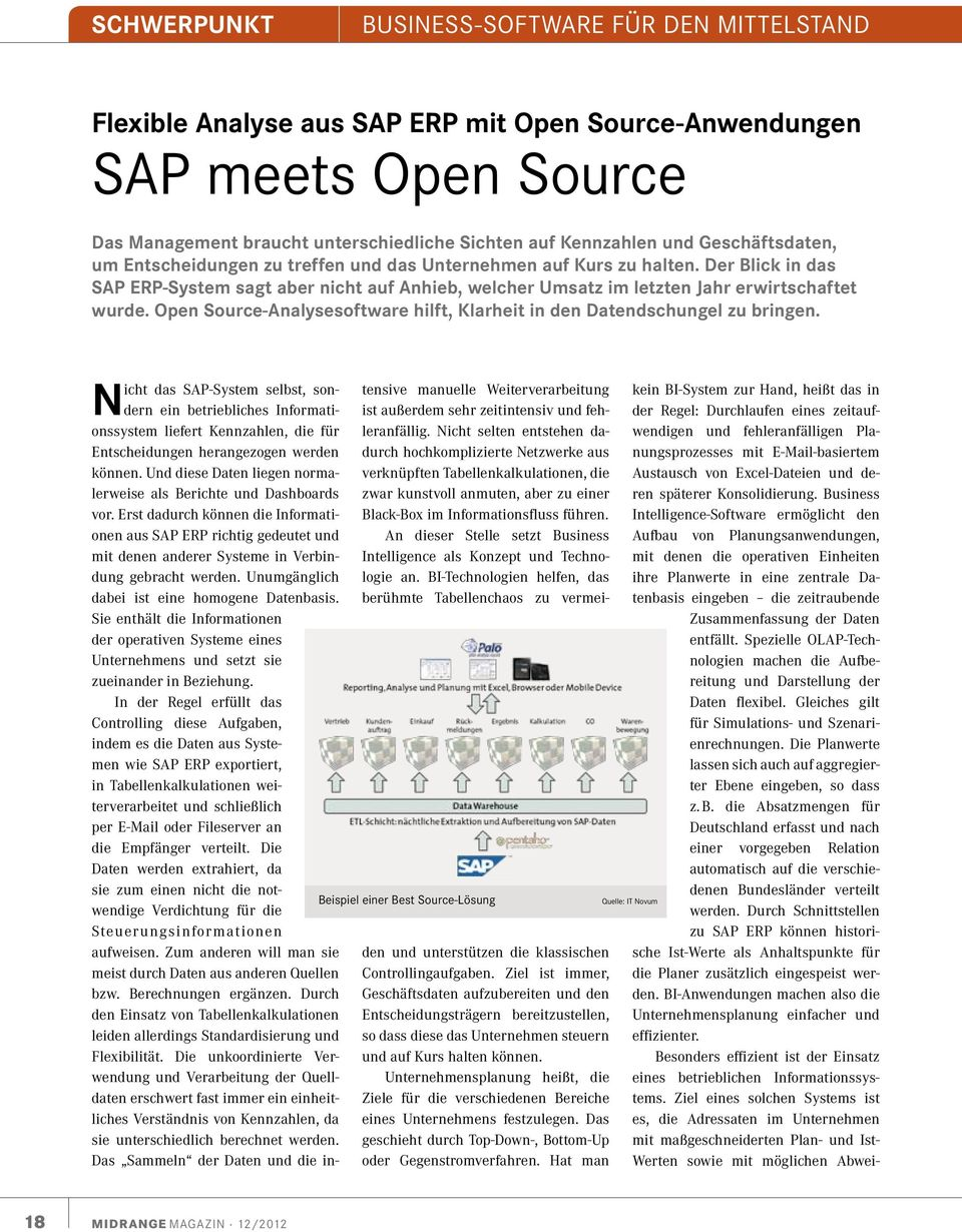 Open Source-Analysesoftware hilft, Klarheit in den Datendschungel zu bringen.