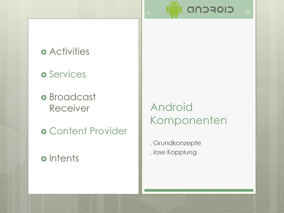 Provider Intents Android