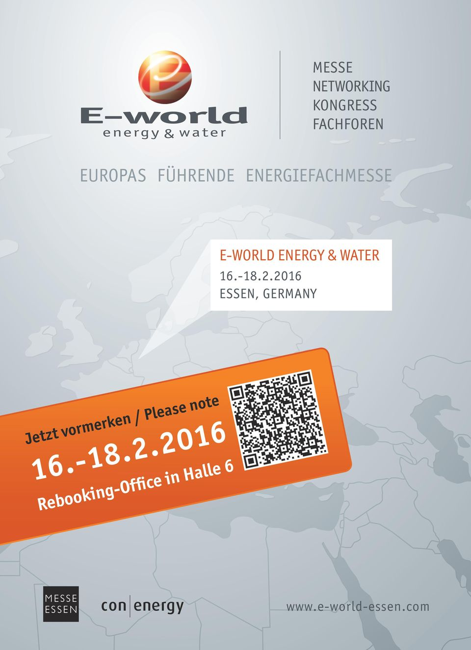 EnErgiEFaCHmEssE E-world EnErgy & water 16.-18.