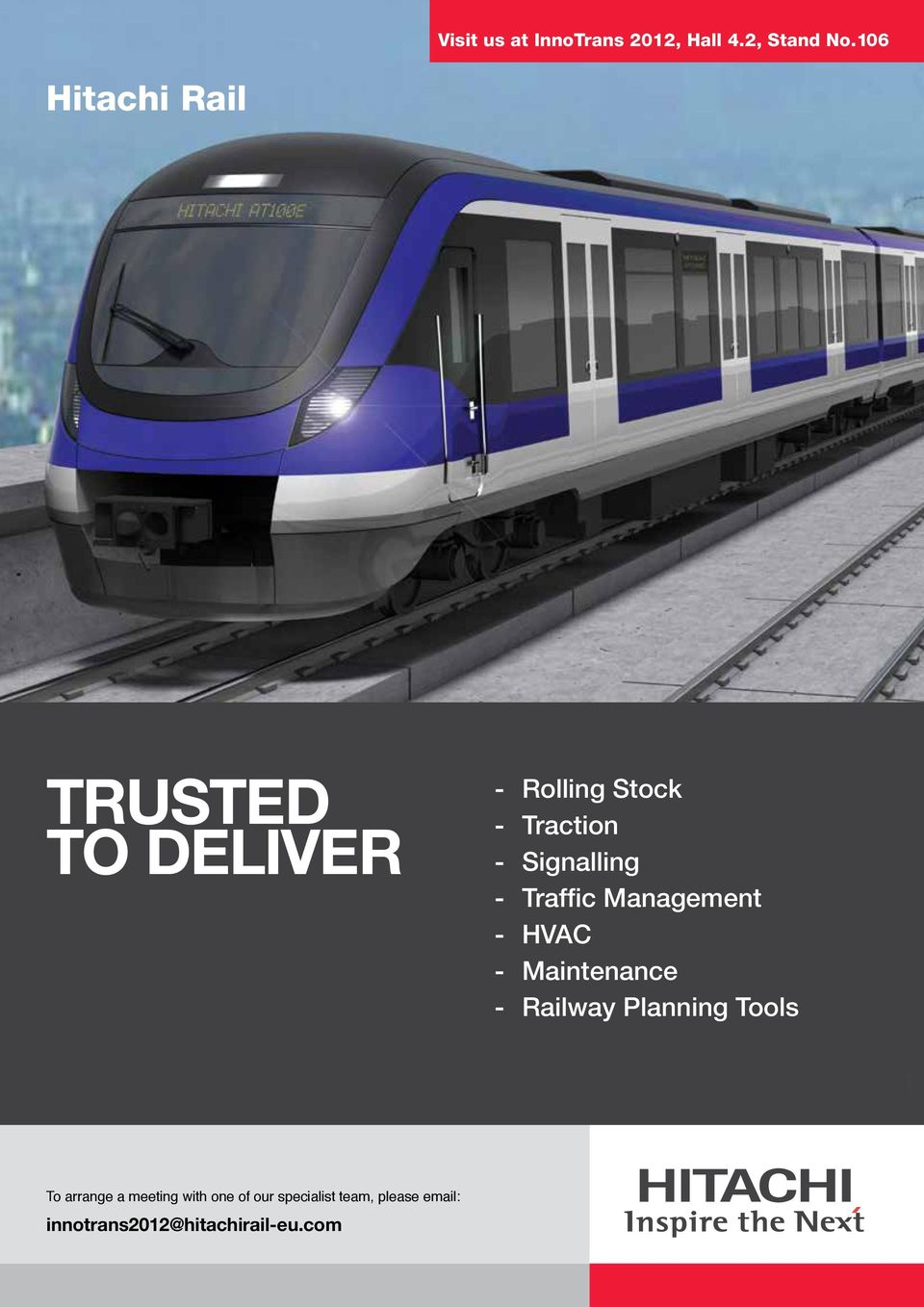 Signalling - Traffic Management - HVAC - Maintenance - Railway Planning