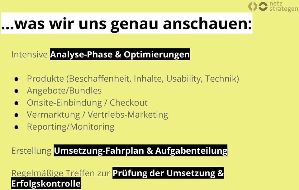 Checkout Vermarktung / Vertriebs-Marketing Reporting/Monitoring Erstellung