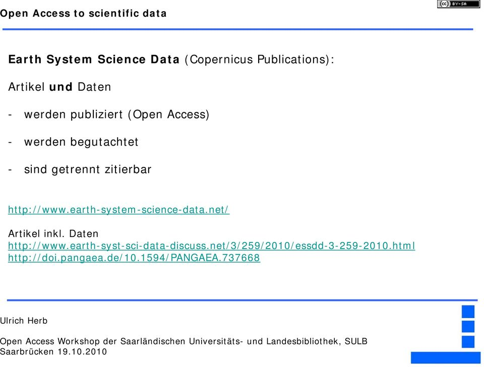 http://www.earth-system-science-data.net/ Artikel inkl. Daten http://www.