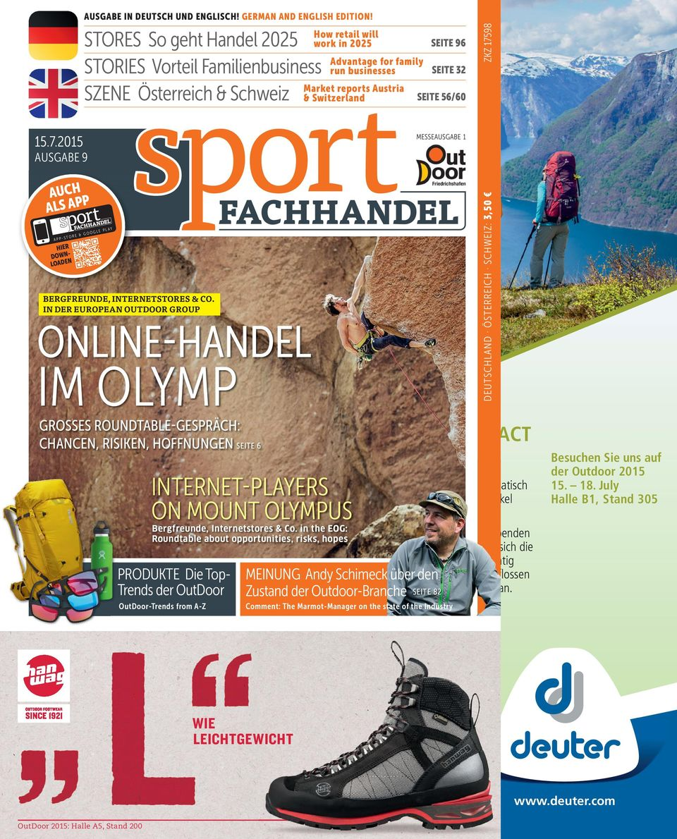 GERMAN AND ENGLISH EDITION! TRAGEN AY LE PL HIER DOWNLOADEN BERGFREUNDE, INTERNETSTORES & CO.