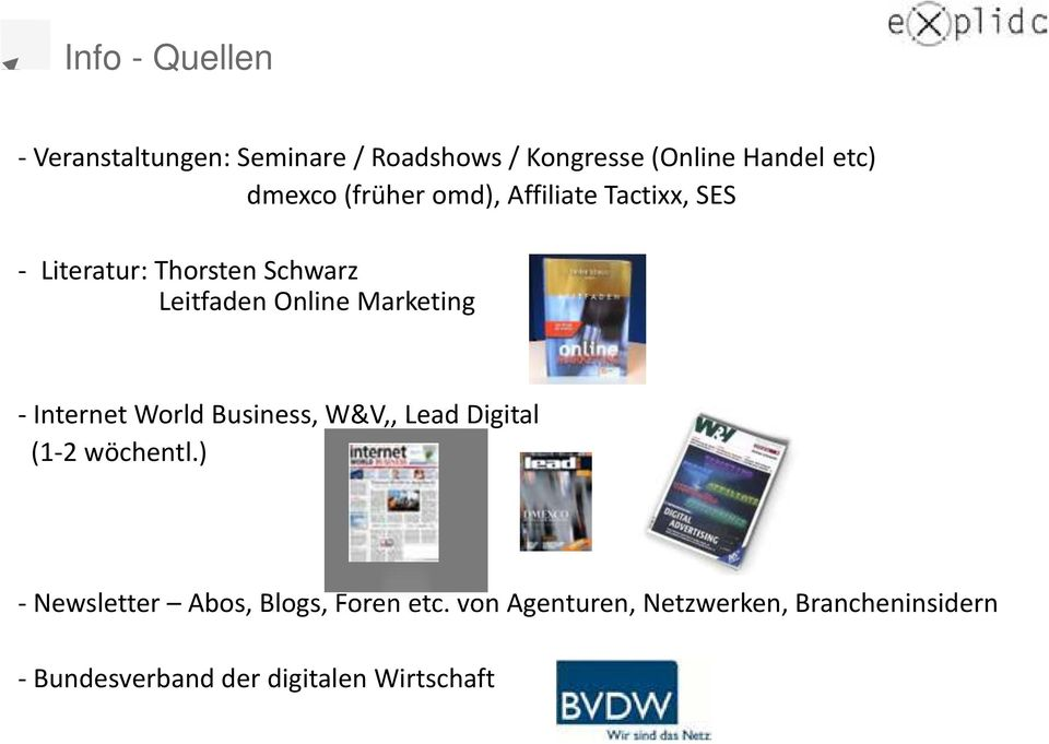 Marketing - Internet World Business, W&V,, Lead Digital (1-2 wöchentl.