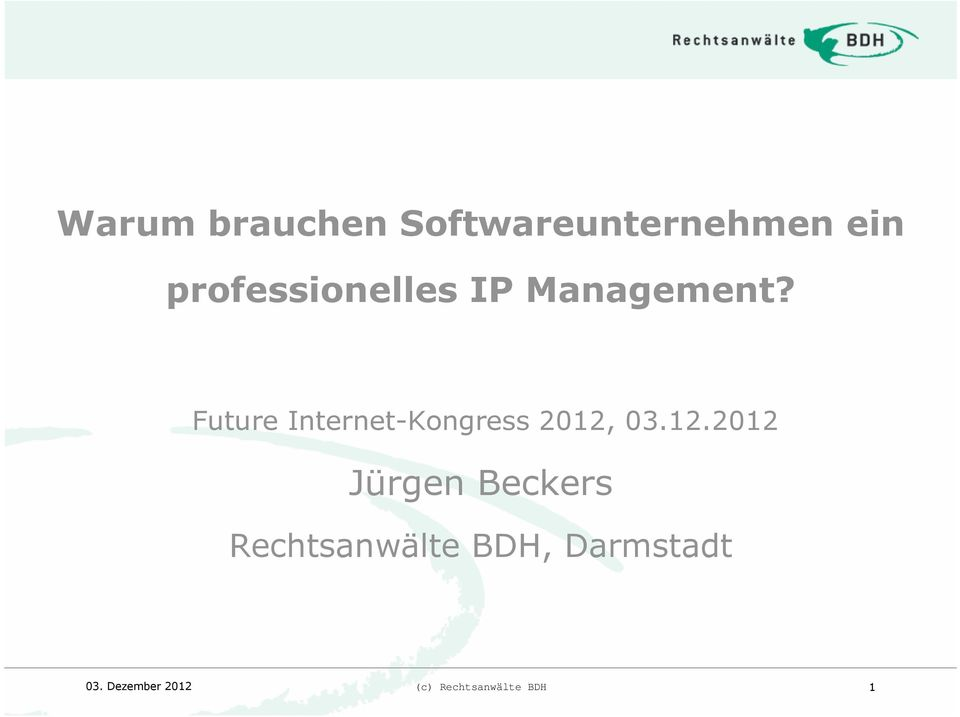 Future Internet-Kongress 2012,